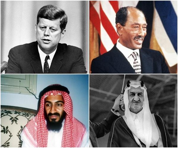 أشهر من تم اغتيالهم في التاريخ الحديث خصوصا في المنطقة العربية