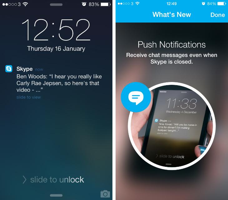 تحديث skype يتيح لك اجراء مكالمات عالية الدقة من الطرفين على الايفون