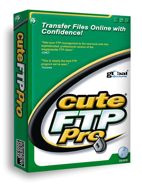 برنامج Cuteftp لنقل الملفات من الجهاز إلى السيرفر او العكس