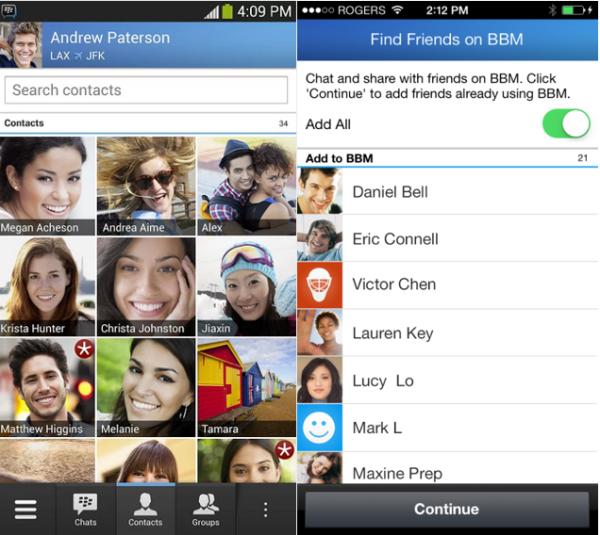 تحديث تطبيق BBM أيفون وأندرويد يضيف امكانية العثور على الأصدقاء