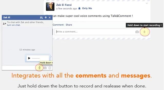 طريقة ارسال رسائل وتعليقات صوتية في فيس بوك