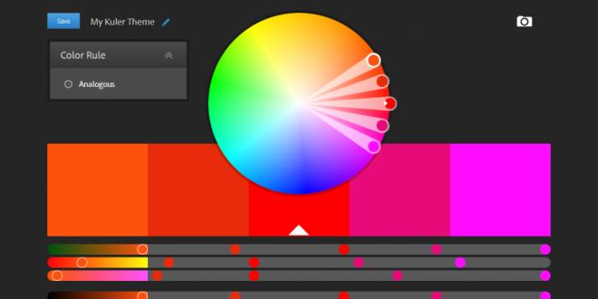 أدات Adobe Kuler رائعة من Adobe لاختيار اللون المناسب لتميمك