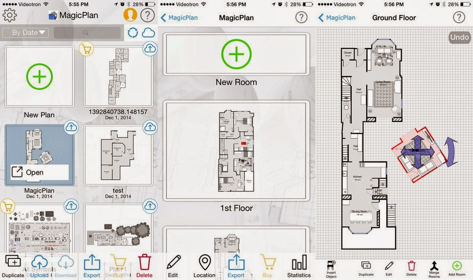 تطبيق MagicPlan لرسم الهندسي