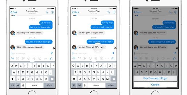 فيسبوك تعلن عن امكانية ارسال واستقال المال على تطبيق Messenger