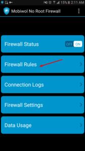 تطبيق يوفير أكثر من 60% من إستهلاك هاتفك للإنترنت انه Mobiwol NoRoot Firewall