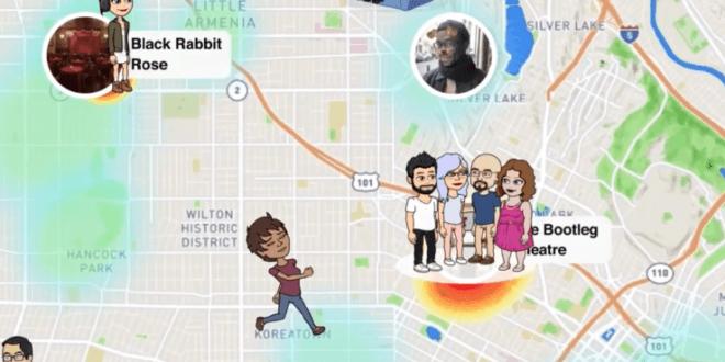 سناب شات snapchat تحديث جديد لمعرفة أماكن الاصدقاء