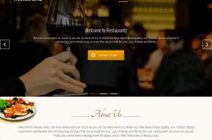 """قالب Restaurantz ووردبريس للمقاهي والمطاعم """"الأعمال الغدائية"""""""