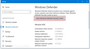 """تعمل هذه الميّزة جنباً إلى جنب مع Windows Defender، أمّا ما نحتاجه لتفعيل هذه الميزة هو نظام ويندوز 10 يحتوي على آخر التحديثات. تفعيل Control Folder Access: اضغط على زر القائمة، ثم ابحث عن """"Windows Defender""""، واختر فيما بعد """"Open Windows Defender Security Center""""، من الواجهة الظاهرة أمامك اختر """"Virus & threat protection settings""""."""