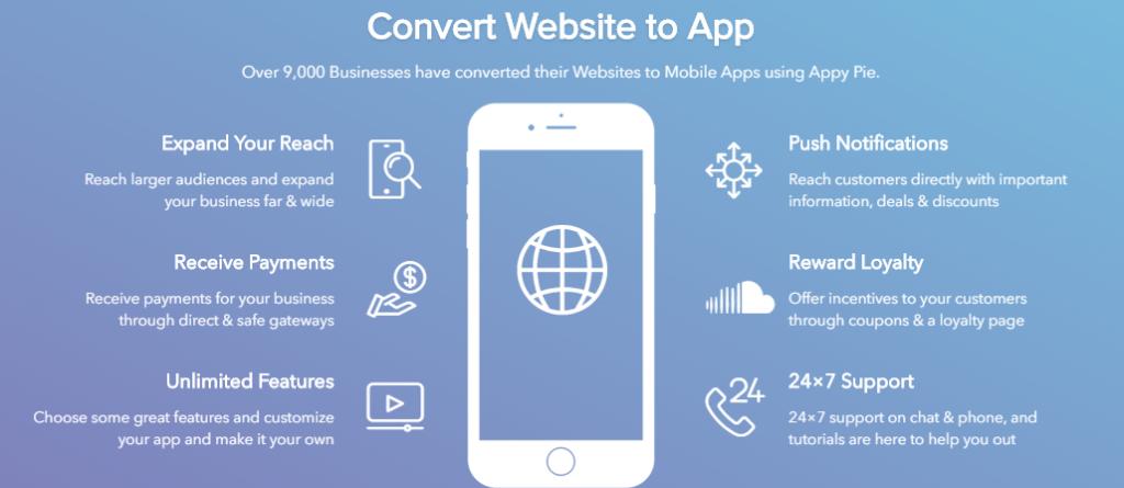 كيفية تحويل موقع ويب إلى تطبيق