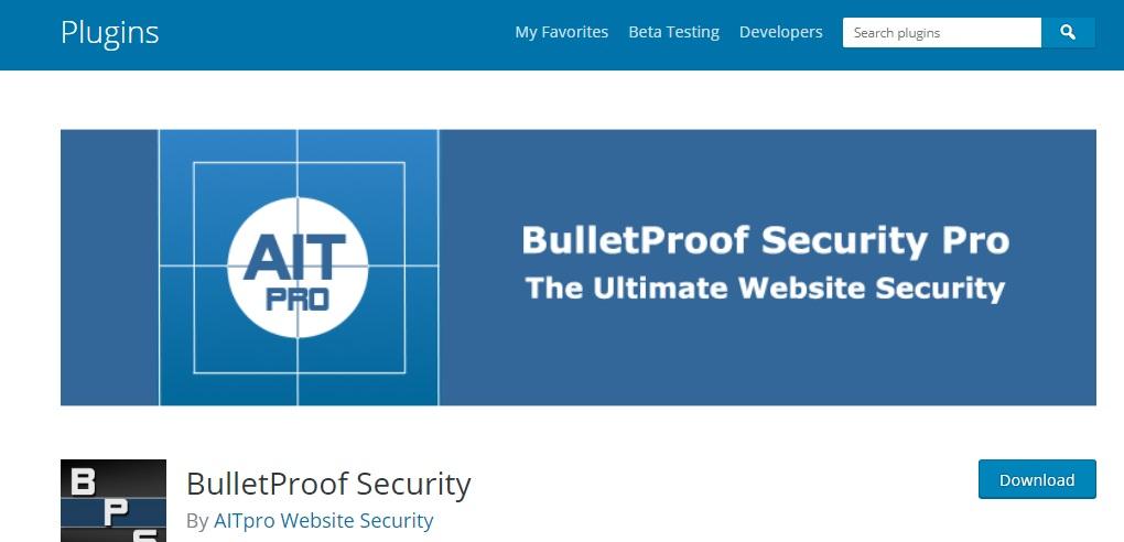 اضافة BulletProof Security: