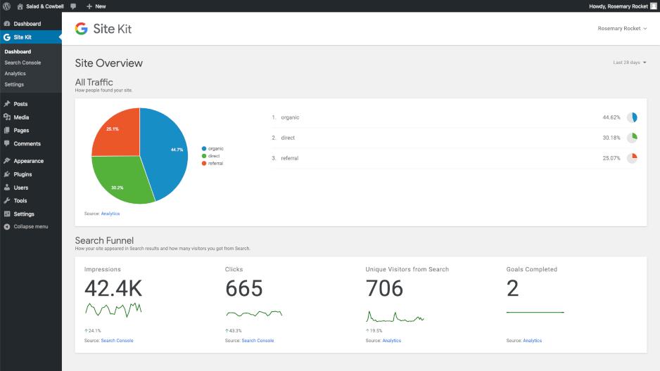 إضافة site kit by google لربط منتجات جوجل بموقعك ووردبريس